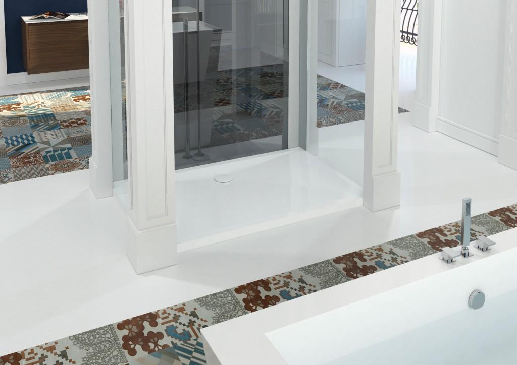 Piatto doccia e Vasca in Corian