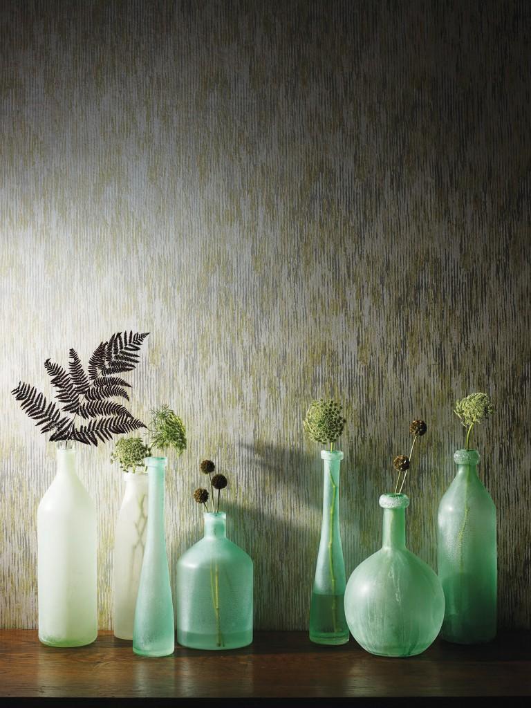 Parato Lavabile: Striscia verticale stretta effetto mosaico .
