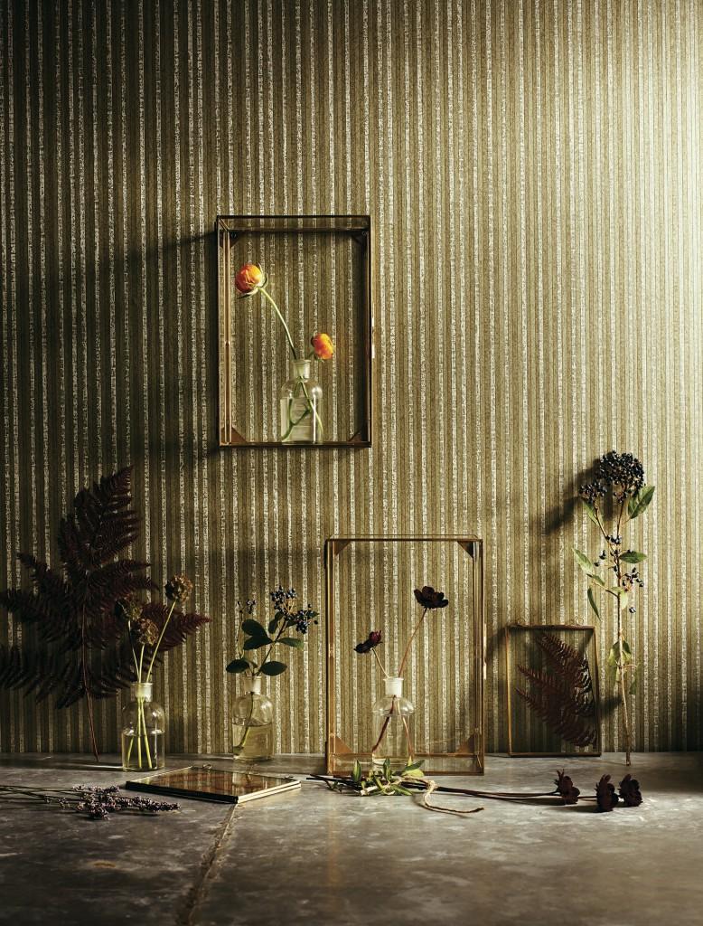 Parato Lavabile: Striscia verticale stretta di piccoli mosaici .