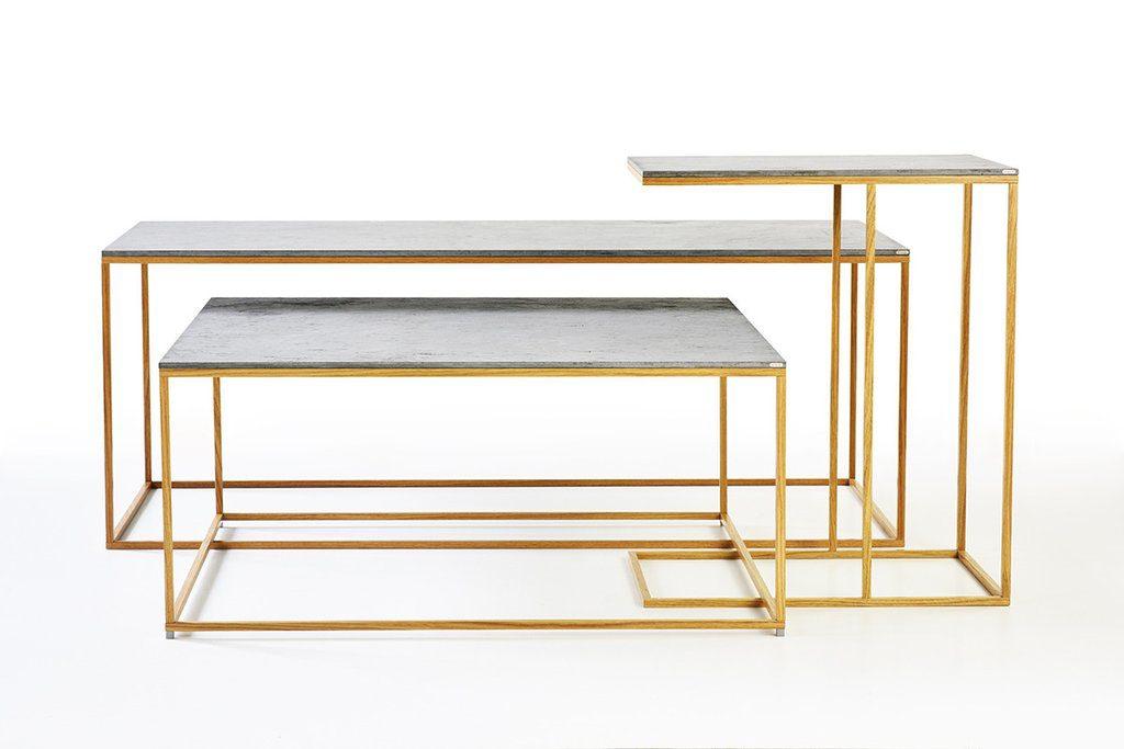 Coffee Set Tables: Una combinazione unica di calcestruzzo, legno e metallo.
