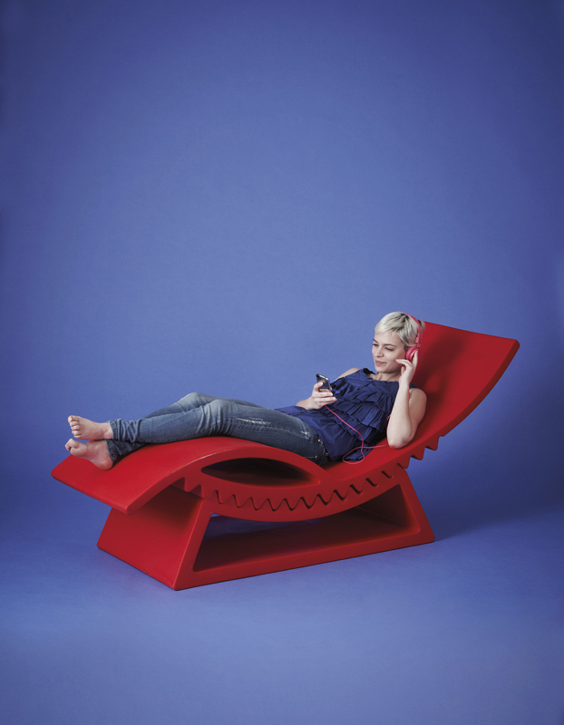 Chaiselongue per esterni.